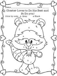 40af3e8394181136a8fd4316e3b5eea0 preschool worksheets letter activities chester raccoon coloring sheet freebie cool classrooms on first day of kindergarten worksheets