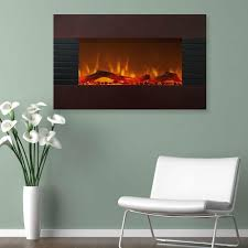 northwest 36 in electric fireplace with wall mount and floor stand in gany