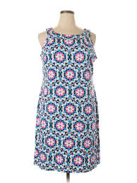 Details About Nwt Crown Ivy Women Blue Casual Dress 1x Plus