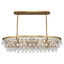 oval crystal chandelier antique brass