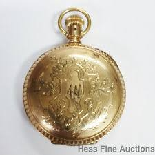 mens pocket watch antique elgin hunter huge super heavy 14k gold filled 15j mens pocket watch