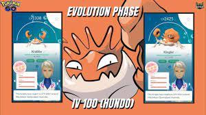 Evolution KRABBY evolve to KINGLER IV 100% (HUNDO) CP 2425