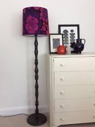 Vintage Wooden Floor Standard Lamp Base Handpainted In Graphite Chalk Paint