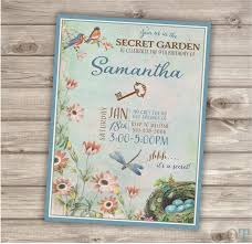 secret garden birthday party invitations secret garden birthday invitations surprise party invitation