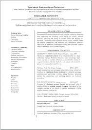 Ophthalmic Assistant Sample Resume Cool Ophthalmic Assistant Resume Ophthalmic Assistant Technician