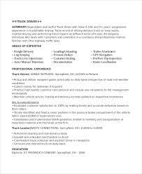 Driver Resume Examples Musiccityspiritsandcocktail Com