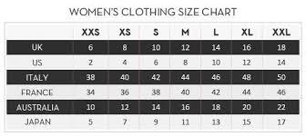 Standard Size Chart Lashkaraa