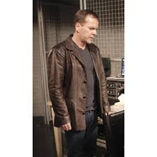 jack bauer 24 series brown jacket mens brown leather jacket