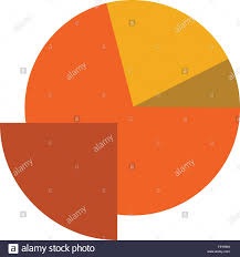 Pie Graph Template Analytics Chart Pie Graph Flat Color Icon Vector Icon