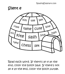 Printable worksheets can be saved as.pdf files which are opened in your browser with adobe acrobat reader. Silent E Worksheets Pdf Igloo Fun Reading Elephant