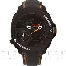 1513221 hugo boss orange black leather mens watch available at tic hugo boss orange 1513221 black leather mens watch