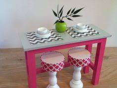 barbie furniture ideas. kitchen island with 2 stools barbie furniture monster high on etsy ideas o