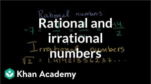 Number System Chart Algebra Intro To Rational Irrational Numbers Algebra Video