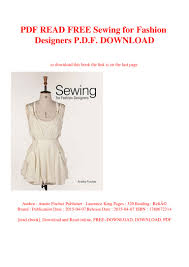 Fashion Designing Books For Beginners Free Download Pdf Pdf Read Free Sewing For Fashion Designers P D F Download