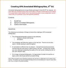 APA Bibliography citation  How to write an annotated bibliography