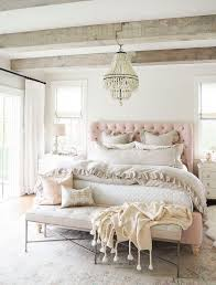 neutral pink beige and whitewash wood farmhouse style urban modern farm french girly bedroom wood beads