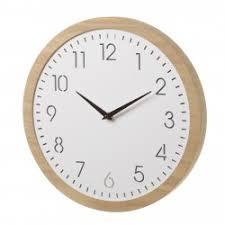 Reloj De Led Nórdico Blanco De Madera Para Cocina Basic