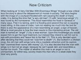 ewrt c class post qhq the story of an hour ambiguity new criticism the formal elements 40 new criticism when looking at ldquoa very old man enormous wingsrdquo