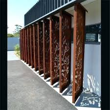 metal privacy fence metal privacy metal frame