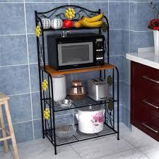 details about home kitchen baker s rack utility microwave stand storage cart workstation shelf