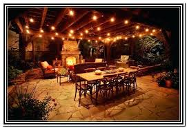 Outdoor Patio String Lights Ideas Light Strings Home Pertaining To