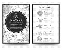 italian restaurant clipart black and white. Wonderful And Italian Clipart Menu Italian Page Restaurant Pasta Vector Royalty  Free In Restaurant Clipart Black And White