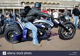 unusual customised chopper motorbike stock photo royalty free