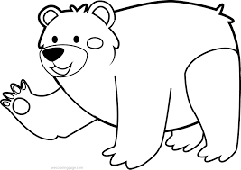 Small Picture Cute Animal Bear Coloring Page Wecoloringpage