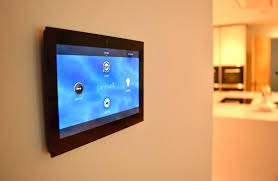 control4 lighting automation system touch panel on the wall