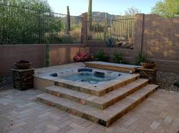 hot tub above ground
