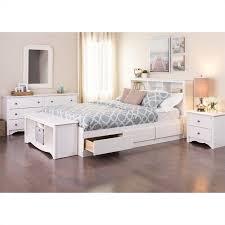 Queen 5 Piece Bedroom Set in White - WDC-5PC-PKG