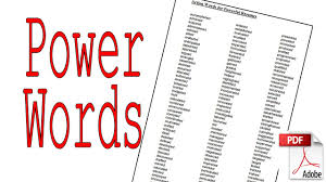 powerwords great action words for resumes stories copywriting powerwords great action words for resumes stories copywriting and more pdf link