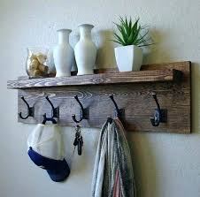 How To Build A Coat Rack Shelf Inspiration Coat Hanger Shelf Best Rustic Coat Rack Ideas On Pallet Projects