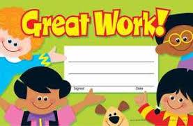 Kids Award Certificate 30 Kids Great Work Award Childrens Certificate Pad Ebay