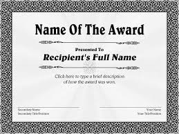 Template Award Certificates Download Them Or Print