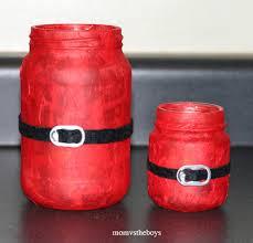 Christmas Decorated Mason Jars Santa Candles Mason Jar Christmas Crafts AllFreeChristmasCrafts 83