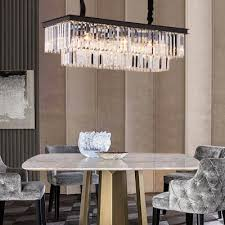 rectangle pendant lighting dining room