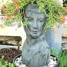 head planters for garden summer annuals human planter face portulaca shaped how to make garde