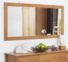 Mirrored Bedroom Furniture Uk Cotswold Rustic Solid Oak Wood Wall Mirror Bedroom Mirror Bedroom