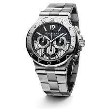 diagono chronograph automatic black and silver dial mens watch 101880 bvlgari diagono chronograph automatic black and silver dial mens watch 101880