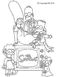 Simpsons Colouring Sheets Coloring Pages Free Printable S Homer