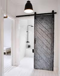minimal interior design barn door