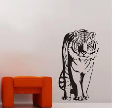 removeble vinyl jungle animals wall decals sitting tiger wall decals wall vinyls wall vinyls home decor from joystickers 20 1 dhgate com