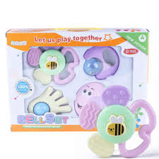 6 pcs mixed infant baby rattles shaking bells set early development toys 0 12 months msia