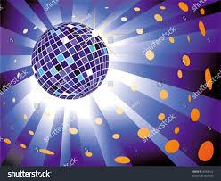 Blue Light Disco Sparkling Disco Ball On Blue Light Illustrations Clip Art