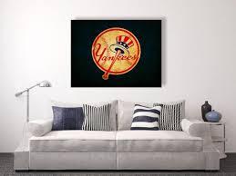 new york yankees vintage style canvas