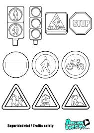 Small Picture Traffic signs coloring pages educational resources children