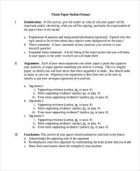 format thesis 8 thesis outline templates free sample example format download
