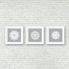 grey mandala wall art set of 3 matching prints white wall art like this item matching on matching wall art pictures with grey mandala wall art set of 3 matching prints white wall art like