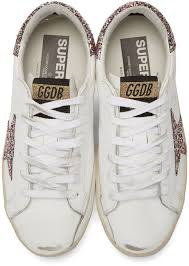 Ssense Size Chart Ssense Exclusive White Glitter Superstar Sneakers